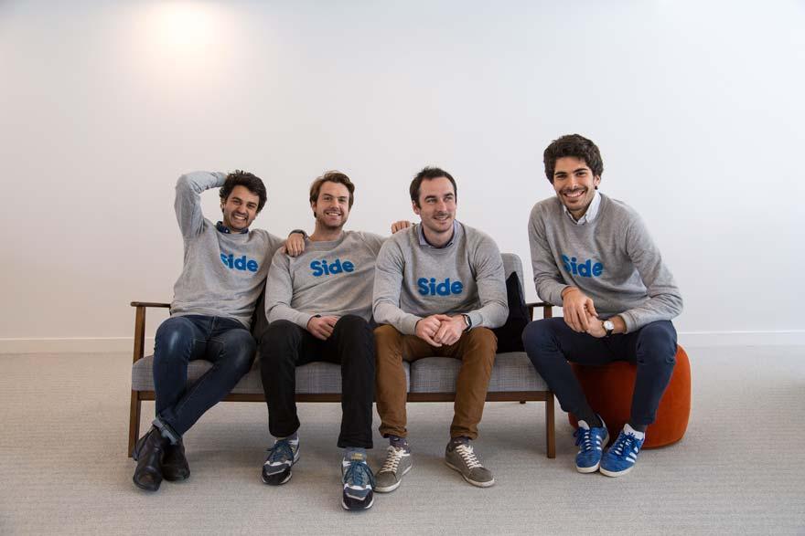 Les 4 fondateurs de l'agence d'intérim digital Side